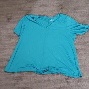 Turquoise shirt by Lane Bryant